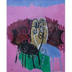 1057 - Franse stoelen in roze - Glicée